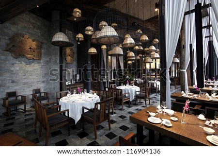 Features renovated restaurant