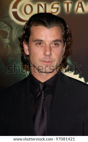 Feb 16, 2005: Los Angeles, CA: Actor/singer GAVIN ROSSDALE at the world premiere of his new movie Constantine, at the Grauman's Chinese Theatre, Hollywood.