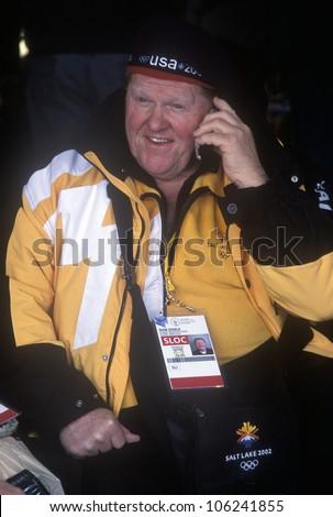 FEBRUARY 2005 - Official worker on telephone during 2002 Winter Olympics, Salt Lake City, UT