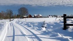 February panorama for Swedish village