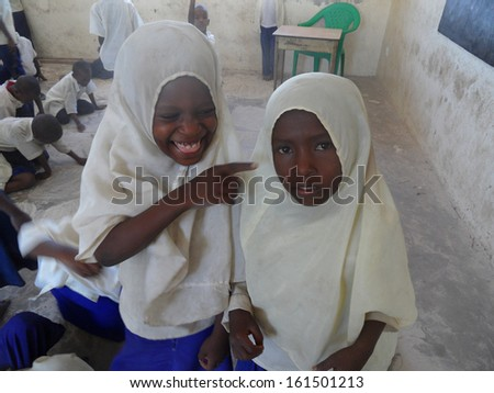 FEBRUARY 2012 - TANZANIA: girls in an islamic school in rural Tanzania, Africa.