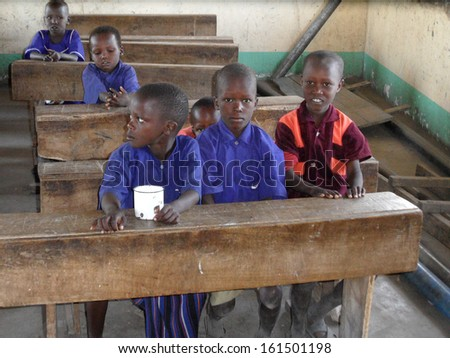 FEBRUARY 2012 - TANZANIA: school children in rural Tanzania, Africa.