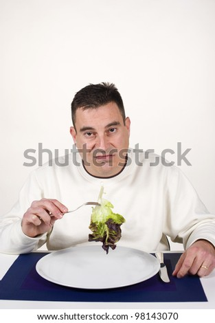 Fed up with eating vegetables, a concept
