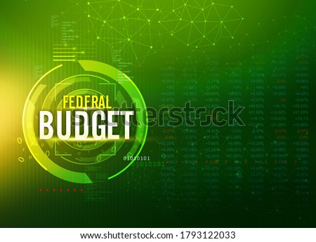 Federal Budget Abstract green Background, Economic background with stock market data, connected lines, Pakistan Federal Budget, finance background, illustration Сток-фото ©
