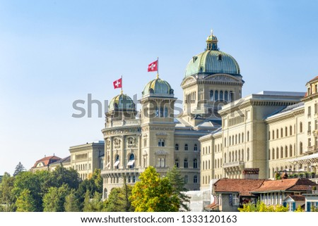 Federal Palace of Switzerland in Bern Photo stock ©