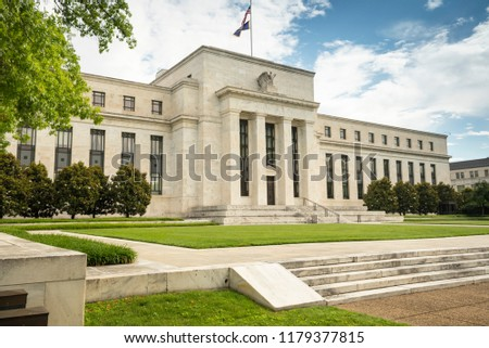 Federal Reserve financial policy building in Washington DC USA