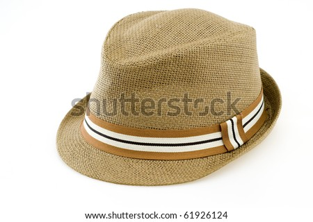 Fedora Isolated on White Background.