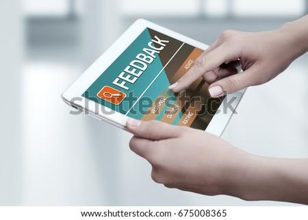 Feedback Business Quality Opinion Service Communication concept #675008365