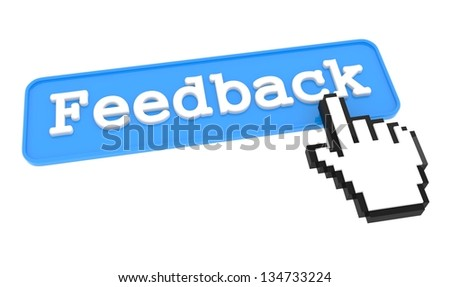 Feedback Button with  Hand Shaped mouse Cursor