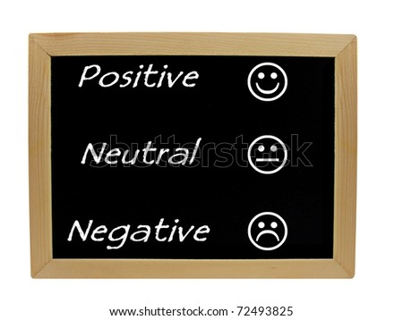 Feedback positive neutral negative on a chalkboard / blackboard