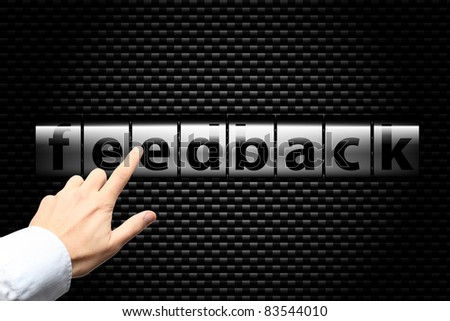 Feedback process - stock photo