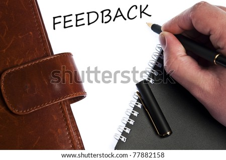 Feedback write by male hand