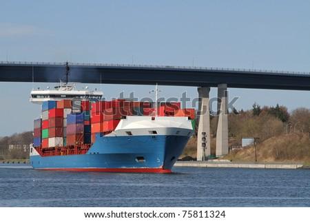 feeder vessel - stock photo