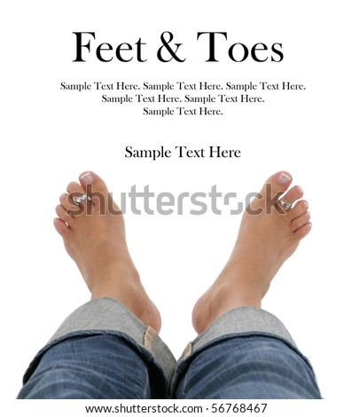 Feet and Toes with Text Space above
