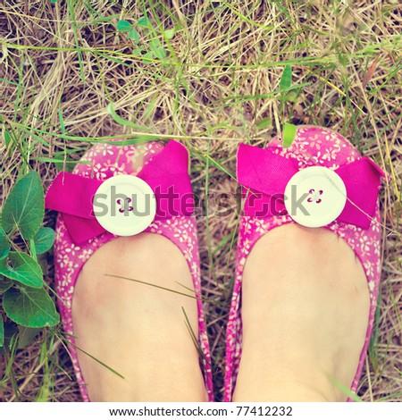 Feet in footwear
