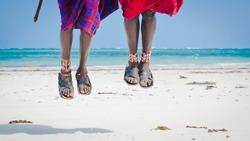 feet men the Masai tribe