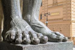 feet of Atlanta near the Hermitage close up