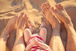 Feet of sand sea