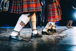 feet of scottish dancers on stage