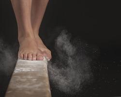 Feet on Balance Beam