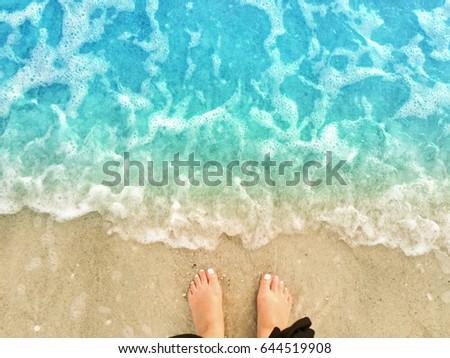 Feet on Beach
