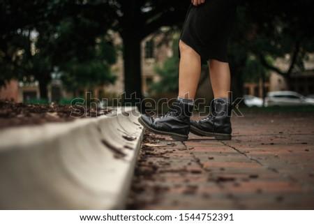 feet on path on brick path #1544752391
