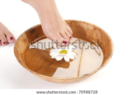 feet spa.pedicure concept