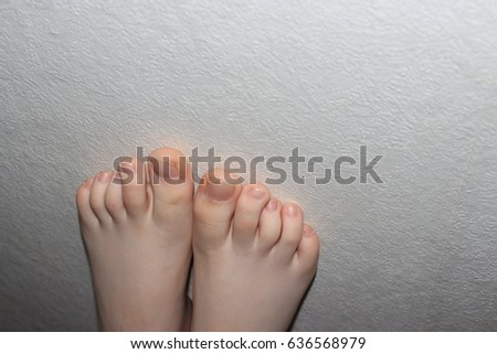 Teen feet close up