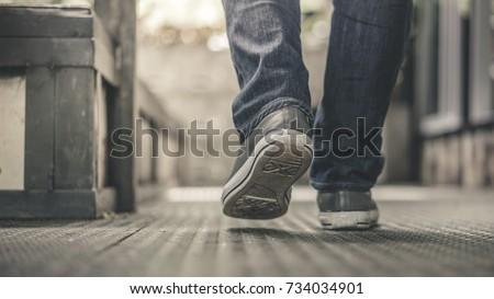 Feet Walking Street  ストックフォト ©