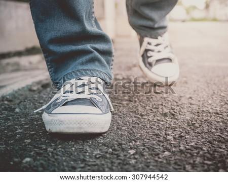 Feet Walking (Vintage Style)