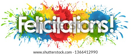 felicitations word in splash's background Stockfoto ©