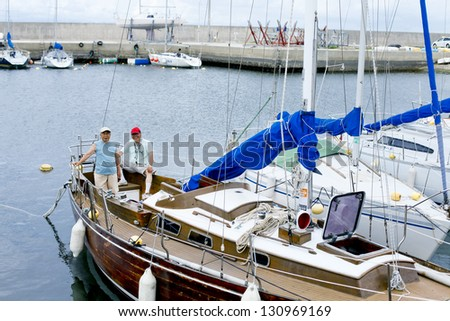 Fellow of the sea - stock photo