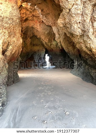 Felshöhle, Rock Cave, Portugal, Beach, Algarve, Rocks, Felsen Stock fotó ©