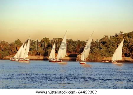 Felucca on nile river Egypt
