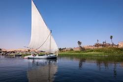 Felucca on the River Nile at Abu Simbel, Egypt
