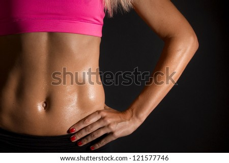 female abdominal muscles