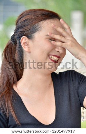 Female And Laughter #1201497919