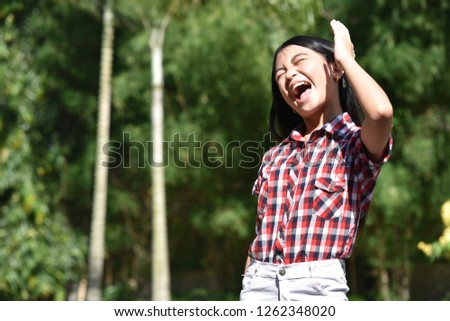 Female And Laughter #1262348020