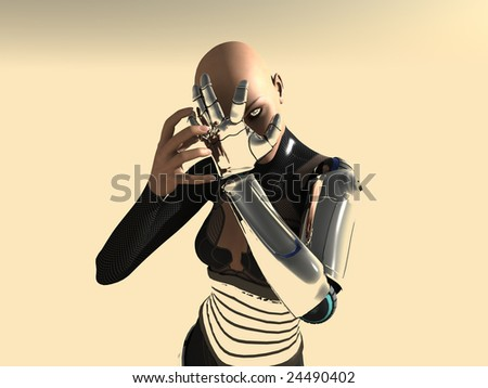 Stock Photo female android