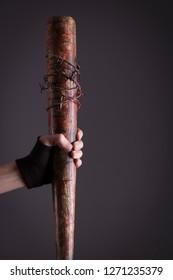 Stock photo of female assassin bat detail.
