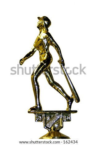 female ball player trophy