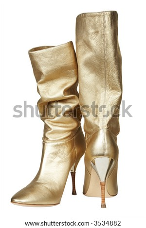 Female boots for summer on a high heel - stock photo