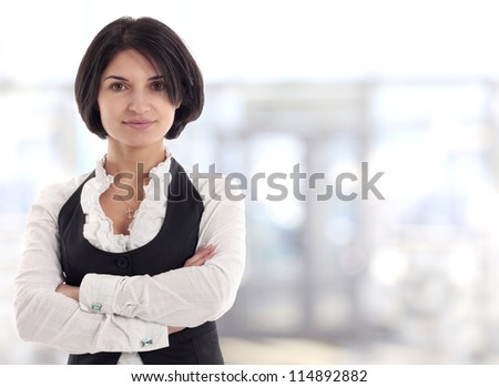 Female Business leader standing