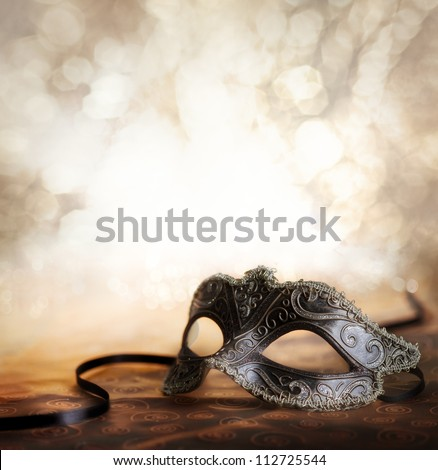 female carnival mask with glittering background Stock photo ©