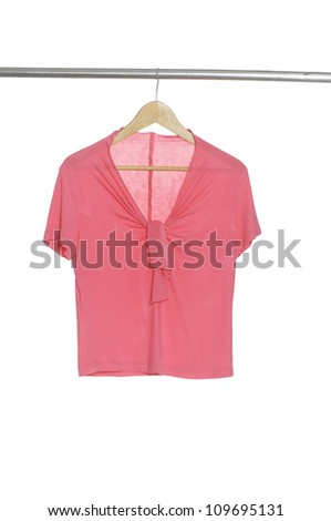 female clothes on a hanger isolated