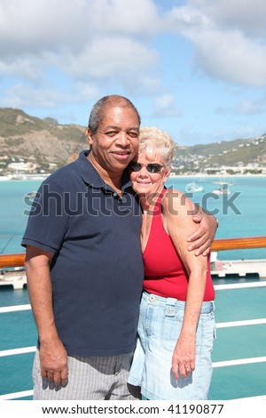 Female Cougar On A Singles Cruise Vacation With An African