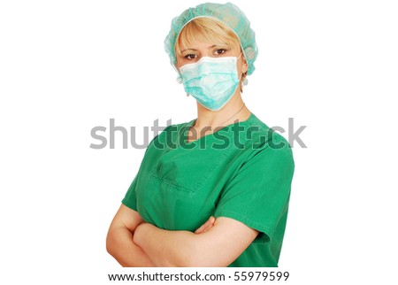 female doctor with mask