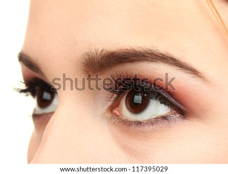 female eyes with beautiful make-up