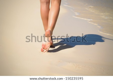 Female feet #150235595