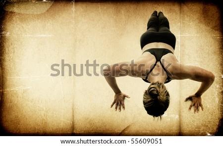 Female Fitness Bodybuilder - Textured